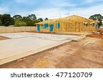 view of construction site and... | Shutterstock . vector #477120709