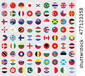 circle flags vector of the world | Shutterstock .eps vector #477123358