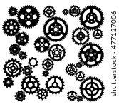 gears circuit vector... | Shutterstock .eps vector #477127006