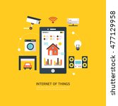 iot  internet of things  flat... | Shutterstock .eps vector #477129958