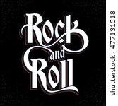 rock music print  hipster... | Shutterstock .eps vector #477131518
