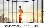 facing new day . mixed media | Shutterstock . vector #477132343