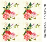 seamless floral pattern three... | Shutterstock .eps vector #477134278