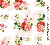 seamless floral pattern three... | Shutterstock .eps vector #477134284
