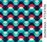 vintage wave seamless pattern... | Shutterstock .eps vector #477137458