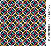 colored circle seamless pattern ... | Shutterstock .eps vector #477137470