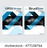 annual business report cover... | Shutterstock .eps vector #477138766