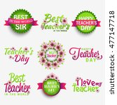 creative badge label or stylish ... | Shutterstock .eps vector #477147718