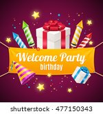 welcome birthday card with... | Shutterstock .eps vector #477150343
