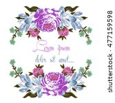 floral vector save the date.... | Shutterstock .eps vector #477159598
