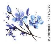 watercolor flower background.... | Shutterstock . vector #477171790