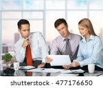 business people looking at... | Shutterstock . vector #477176650