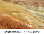 clay surface of the mountain   Shutterstock . vector #477181090