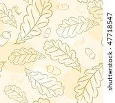 seamless wallpaper autumn oak | Shutterstock . vector #47718547