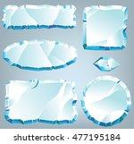 vector ice design elements for... | Shutterstock .eps vector #477195184