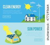 clean energy and sun power... | Shutterstock .eps vector #477195664