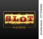slot machine casino advertising ... | Shutterstock .eps vector #477196060