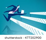 overcome obstacles. manager... | Shutterstock .eps vector #477202900