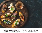 italian crostini with various... | Shutterstock . vector #477206809