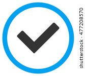 ok vector bicolor rounded icon. ...