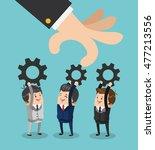 businessman gears male cartoon...   Shutterstock .eps vector #477213556