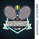 tennis badge logo  label ... | Shutterstock .eps vector #477231580