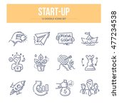doodle vector line icons set of ... | Shutterstock .eps vector #477234538