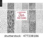 Handdrawn Patterns Set. Fur...