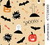 cute thematic halloween... | Shutterstock .eps vector #477238300