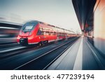 beautiful railway station with... | Shutterstock . vector #477239194