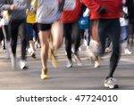 marathon runners | Shutterstock . vector #47724010