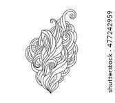 hand drawn ornament with floral ... | Shutterstock .eps vector #477242959