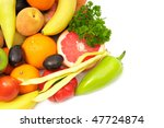 fruits and vegetables isolated... | Shutterstock . vector #47724874