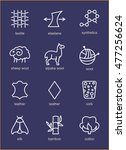vector line icons of fabric... | Shutterstock .eps vector #477256624
