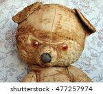 Old Shabby Teddy Bear's Head...