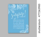 wedding invitation or card with ... | Shutterstock .eps vector #477263983