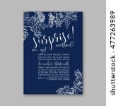 wedding invitation or card with ... | Shutterstock .eps vector #477263989