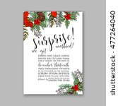 wedding invitation or card with ... | Shutterstock .eps vector #477264040