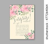 wedding invitation or card with ... | Shutterstock .eps vector #477264064