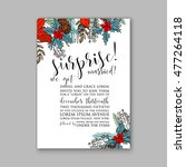 wedding invitation or card with ... | Shutterstock .eps vector #477264118