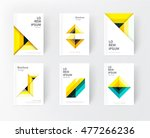 cover design idea. yellow ... | Shutterstock .eps vector #477266236
