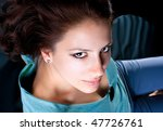 close up portrait of  beautiful ... | Shutterstock . vector #47726761