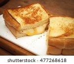grilled cheese sandwich | Shutterstock . vector #477268618