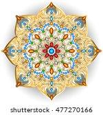 mandala brooch jewelry  design... | Shutterstock .eps vector #477270166