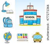 school icons set. building... | Shutterstock . vector #477271366