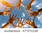 togetherness  team  union ... | Shutterstock . vector #477272128