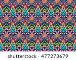 seamless vector tribal texture. ... | Shutterstock .eps vector #477273679