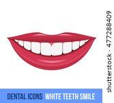 Vector Flat Dental Icon. White...