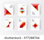 minimalistic red cover design... | Shutterstock .eps vector #477288766