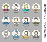 women  icons and avatars in a... | Shutterstock .eps vector #477288988